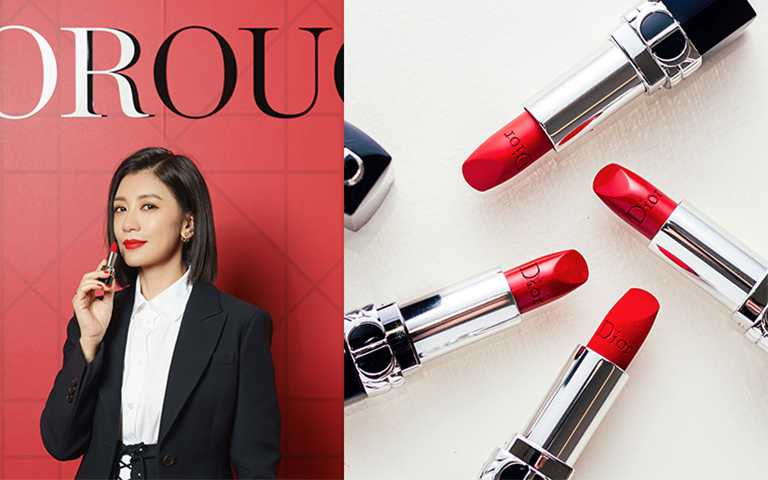 迪奧彩妝大使賈靜雯出席2021全新《DIOR迪奧藍星唇膏》發表會。(圖/DIOR提供)