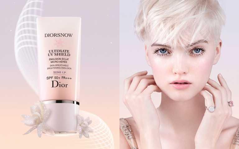 Dior雪晶靈潤色隔離亮妍霜SPF50+/PA+++ 30ml/2,200元  完美結合高效防護力與一抹柔化膚色的粉嫩修飾力,是口罩日常的必備素顏霜。(圖/品牌提供)