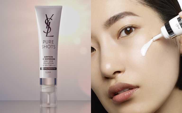 YSL極效活萃輕盈UV防曬凝露SPF50+/PA++++ 30ml/2,000元  比起傳統的防曬品,更加升級呵護,少量便能賦予肌膚對抗城市侵害因子的防禦力。(圖/品牌提供)