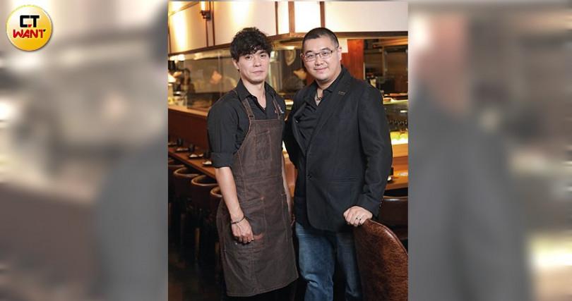 老闆Camilo與主廚はる連手打造ABV日式居酒館。(圖/于魯光攝)