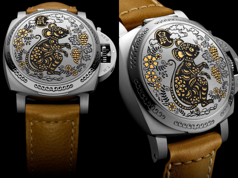 PANERAI「Luminor Sealand」系列鼠,年生肖限量腕錶╱725,000元(圖片提供╱PANERAI)