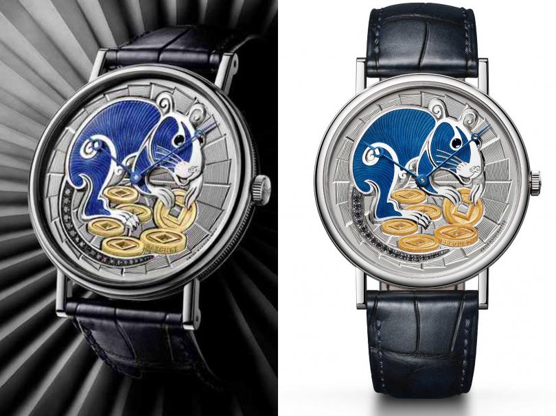 Breguet「Classique 7145」經典系列,鼠年限量腕錶╱1,586,000元(圖片提供╱Breguet)