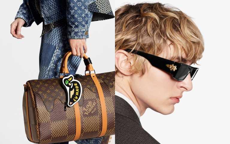 Duck Coin Card Holder 吊飾/20,300元、LV Lock Sunglasses 墨鏡/價格未定(圖/品牌提供)