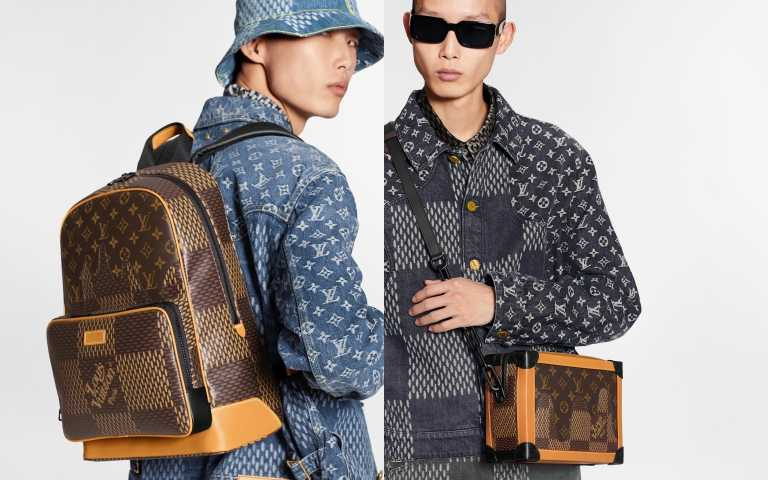 Damier Giant Wave Monogram Campus 後背包/92,000元、Damier Giant Wave Monogram Soft Trunk 箱包/138,000元(圖/品牌提供)