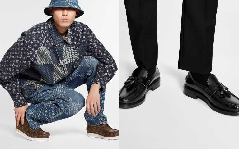 LV MODS ANKLE BOOT 短靴/36,300元、VOLTAIRE LOAFER 樂福鞋/34,900元(圖/品牌提供)