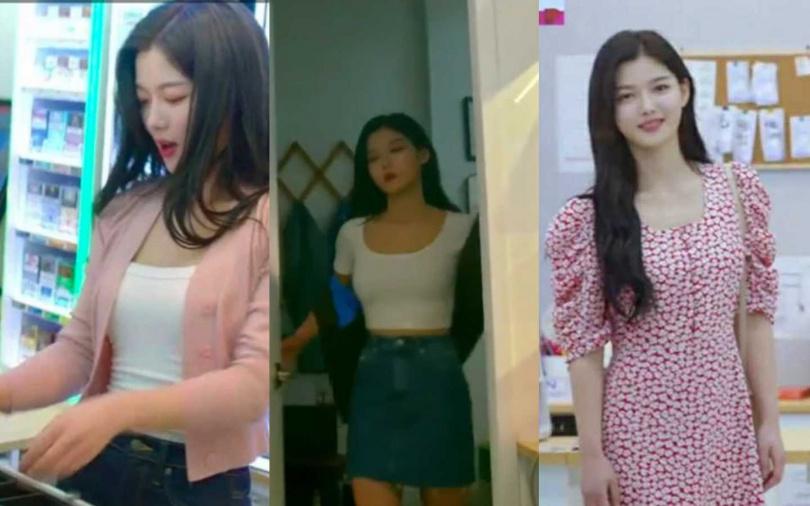 在這齣韓劇中終於讓大家看見了金裕貞私藏許久的好身材>///<。(圖/翻攝網路)