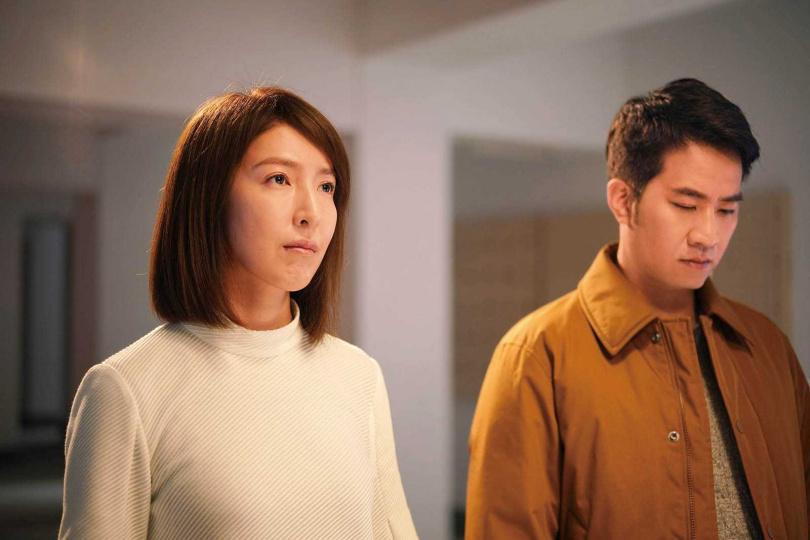 楊謹華在片中演出高冷的美術老師,與老搭檔黃健瑋陷入心酸苦戀。(圖/華映娛樂提供)