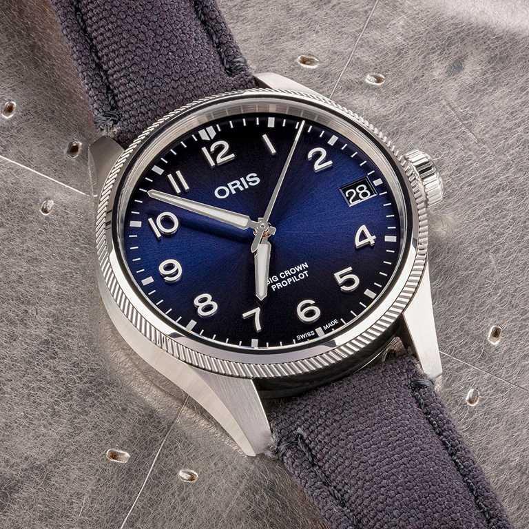ORIS「Big Crown ProPilot飛行系列」風格大視窗日期女錶╱41mm,不鏽鋼錶殼╱55,000元。(圖╱ORIS提供)