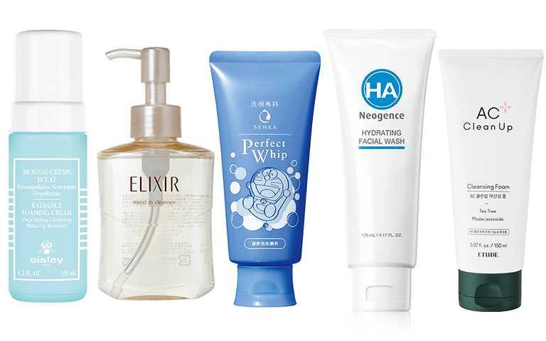 除了洗臉的步驟跟手法很重要,選擇一款清潔度夠又溫和的產品也是重點!(圖/各品牌提供)
