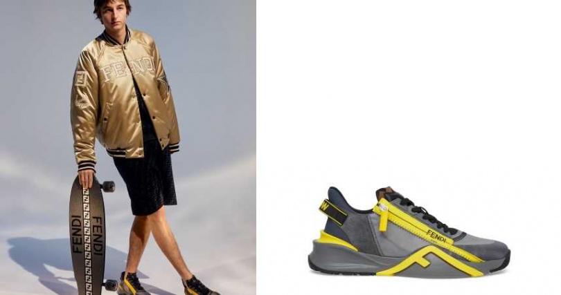 將 FF LOGO 作為臂章,加上星形圖案與難以忽視的光澤,將奢華意念融入運動之中。FENDI Active 系列 FENDI Flow 休閒鞋/28,700元(圖/品牌提供)