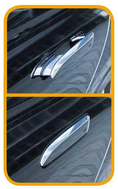 隱藏式門把可在距車6公尺時自動開啟,發動引擎、車門上鎖後會自動縮回。(圖/王永泰攝)