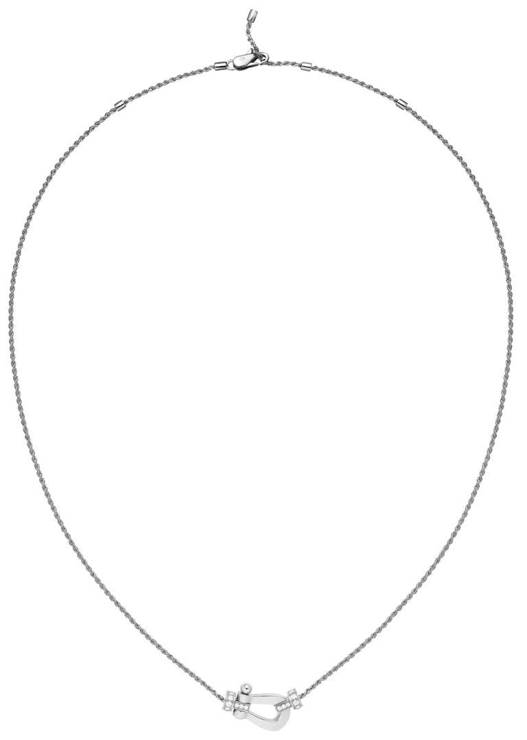 FRED「Force 10」系列項鍊,18K白金鑽石(中型款)╱113,800元。(圖╱FRED提供)