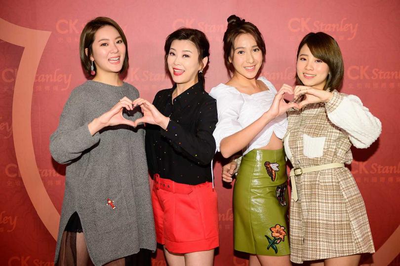 方馨(左二)在《女力報到小資女上班記》中戲份頗多。(圖/史坦利提供)