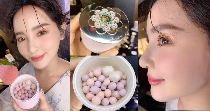 仔細看會發現每顆蜜粉球都是用星鑽粉末滾製而成,難怪會能透出柔和又明亮的妝效。