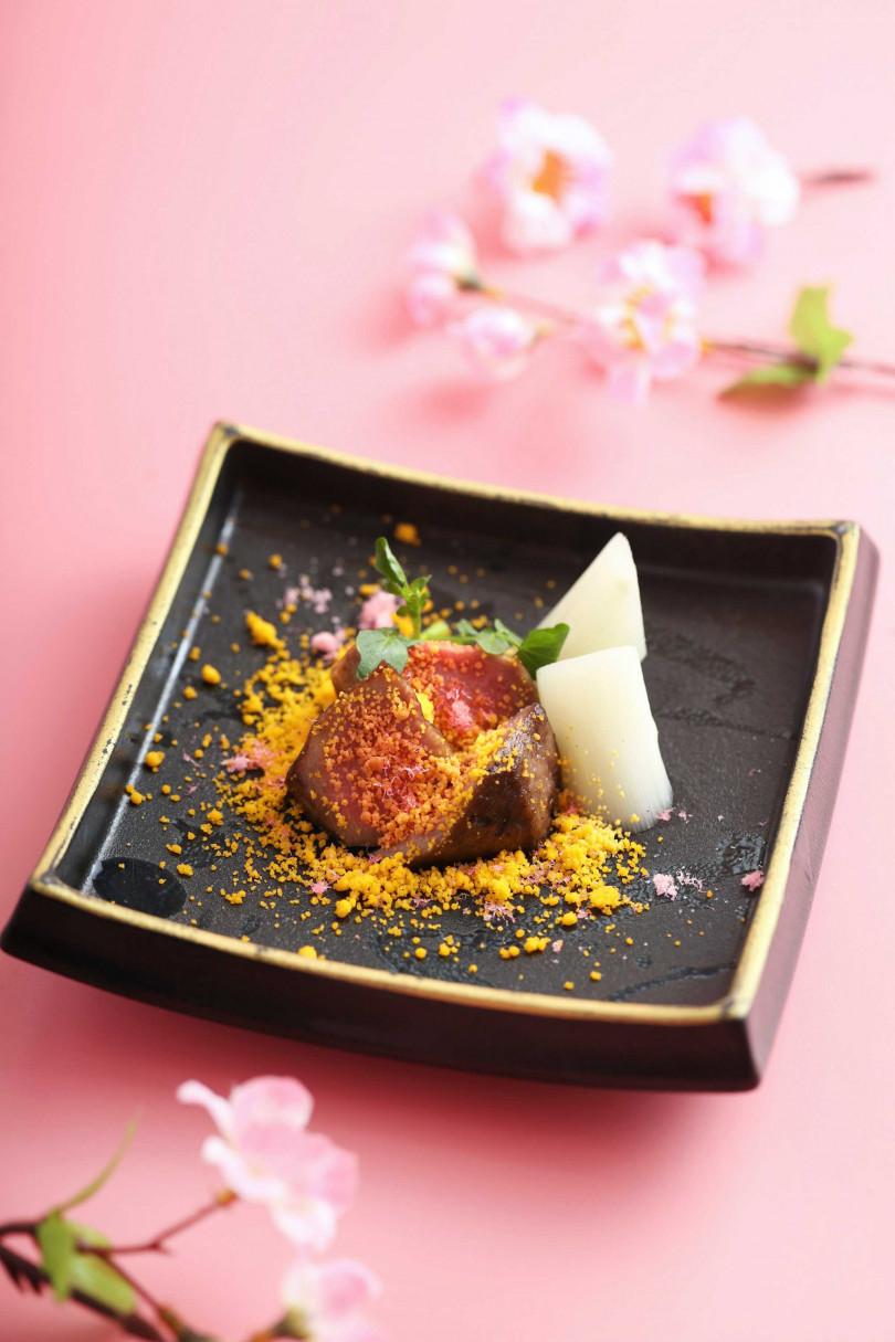 櫻花和牛舌。(圖/樂軒和牛割烹提供)