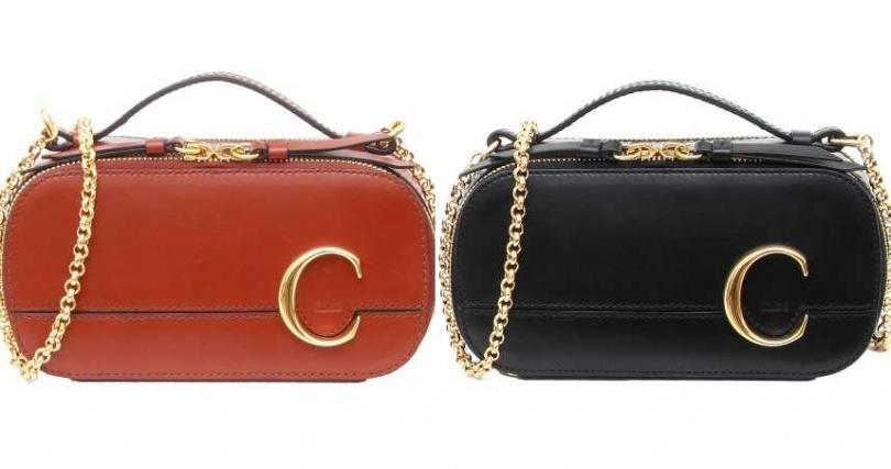 Chloé Chloé C'咖啡色、黑色相機包/各34,000元。(圖/品牌提供)