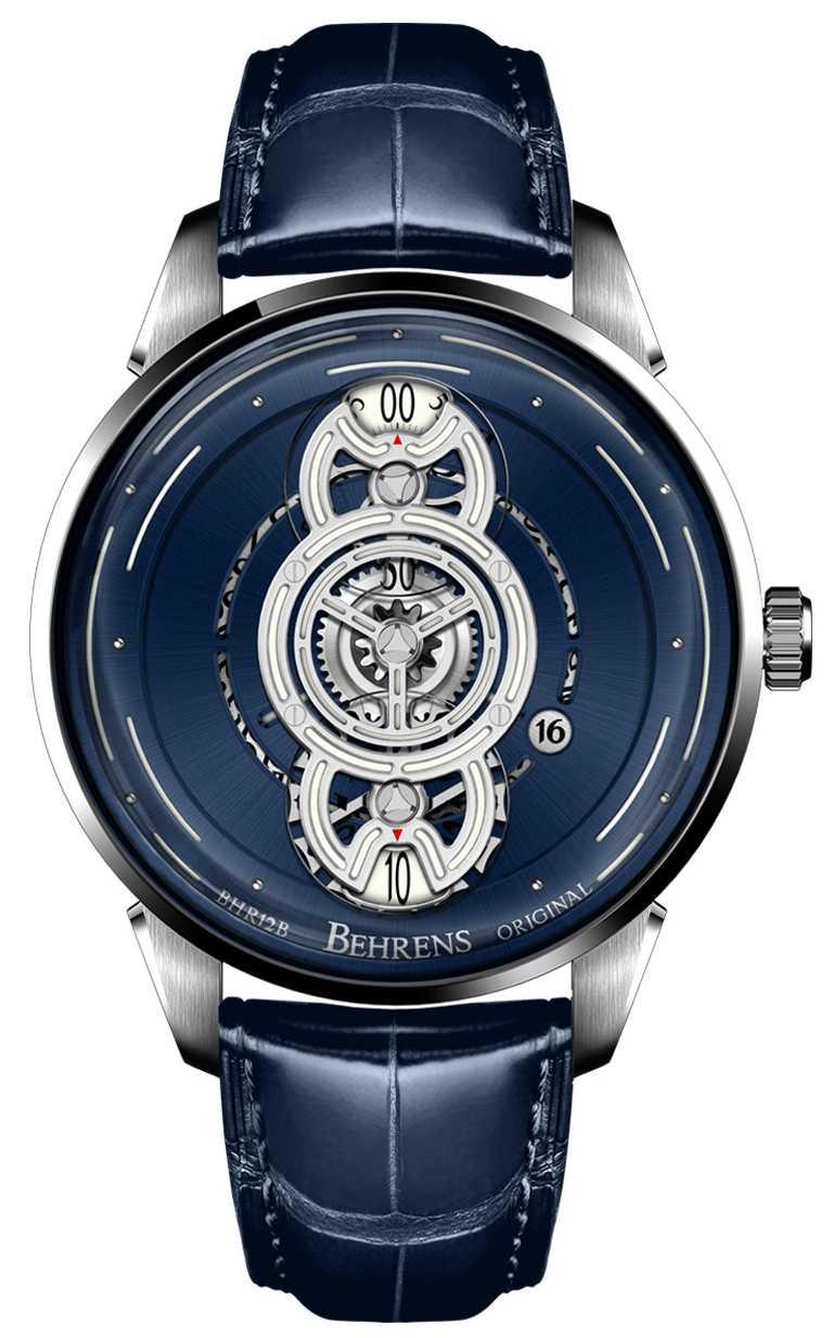 BEHRENS ORIGINAL「Space Traveller星際航行」系列腕錶,42mm,316L不鏽鋼錶殼,自動上鏈機芯╱63,500元。(圖╱BEHRENS ORIGINAL提供)