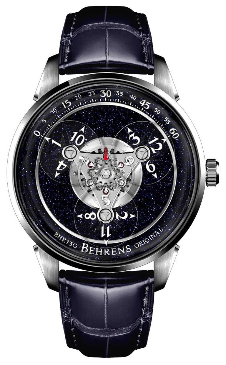 BEHRENS ORIGINAL「Astronomer宇航員」系列腕錶,42mm,316L不鏽鋼錶殼,自動上鏈機芯╱68,000元。(圖╱BEHRENS ORIGINAL提供)