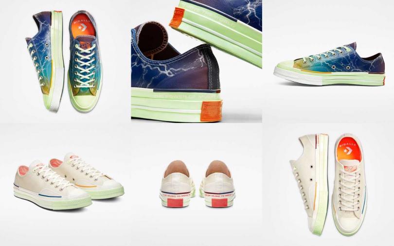 Converse X Pigalle聯名鞋款系列建議售價為NT3,980,將於2020年1月25日起於指定店點販售。(圖/Converse)