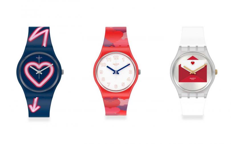 讓時尚錶款為傳遞甜言蜜語。(圖/Swatch)