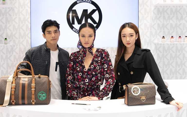 吳卓源、林哲熹與視覺藝術家江宥儀為「MK My Way」活動站台。(圖/Michael Kors)