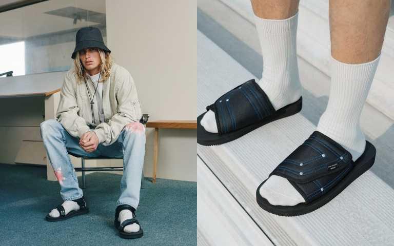John Elliott × SUICOKE SAW 拖鞋/6,280元、KIPA 涼鞋/5,480元。(圖/品牌提供)