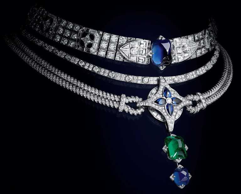 LOUIS VUITTON「Bravery」系列高級珠寶,「Le Mythe」項鍊。(圖╱LOUIS VUITTON提供)
