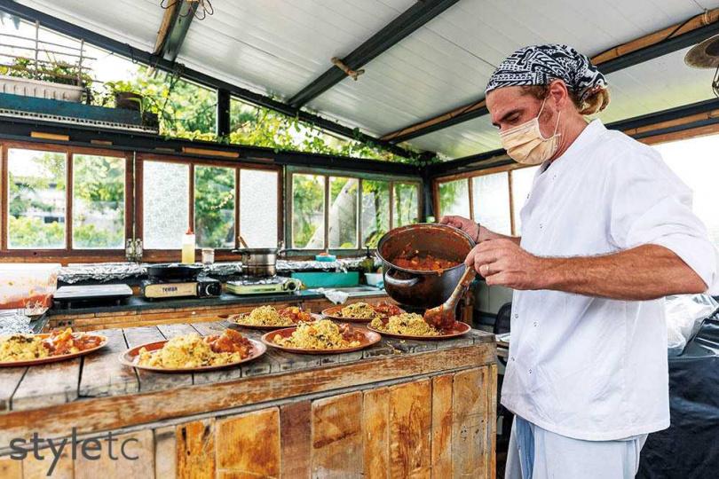 Sebastien的家鄉位在法國東北,擅長鄰近的德國、瑞士家常菜。(圖/焦正德攝)