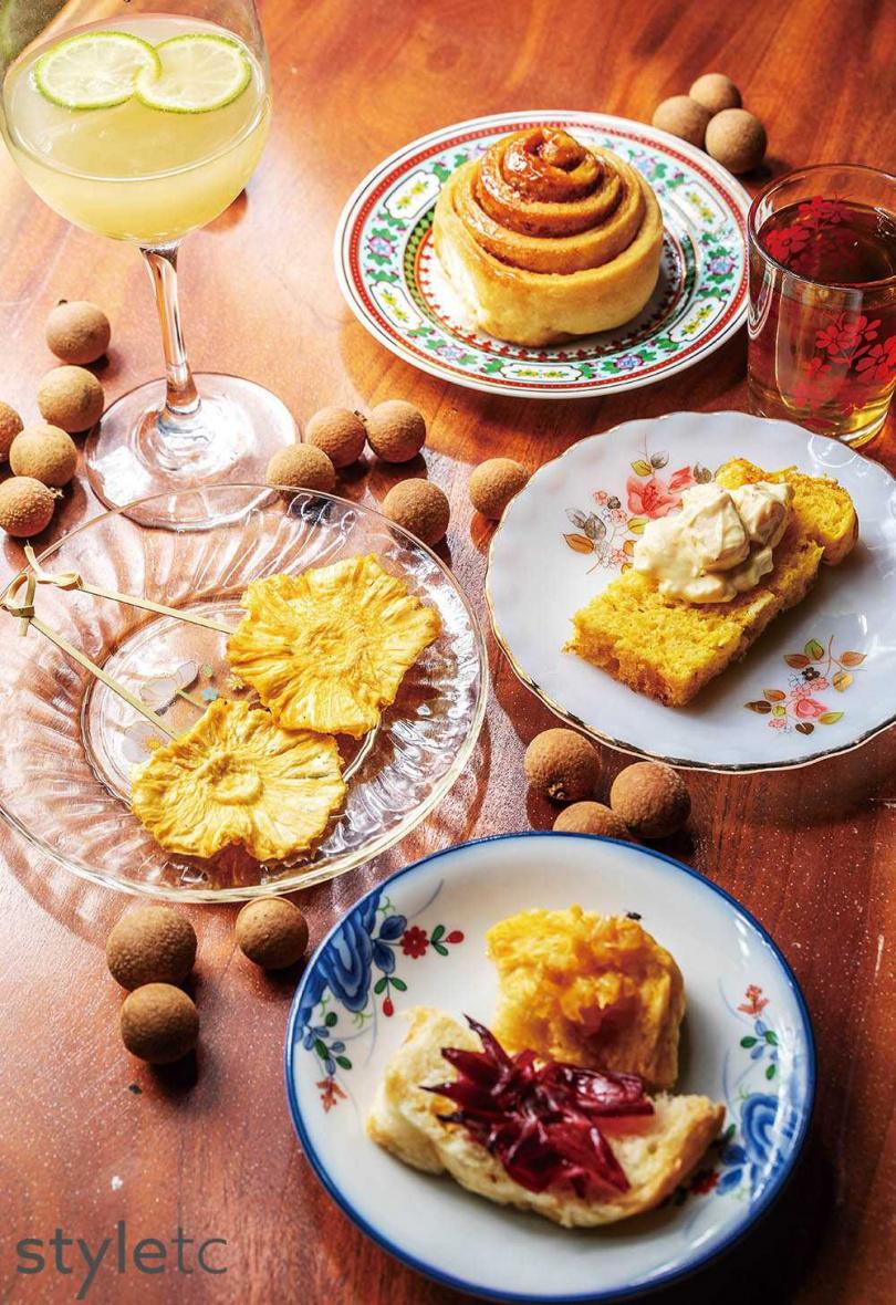導覽包含午茶糕點,食材大多來自於協會自行栽種。(圖/焦正德攝)