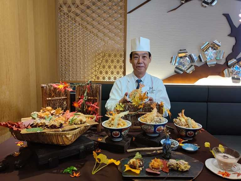 美福飯店日籍料理長湯本誠,設計出精彩的秋季菜單。