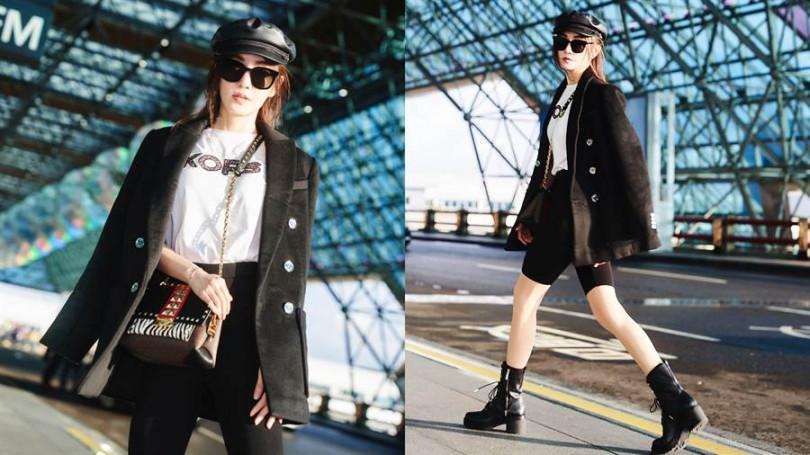 纖細的身材與凍齡美顏,時髦街頭穿著讓人以為只有20多歲。(圖/品牌提供)