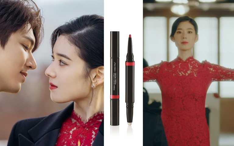 SHISEIDO國際櫃引釉雙效唇彩筆#08正紅/1,100元(圖/翻攝自網路)
