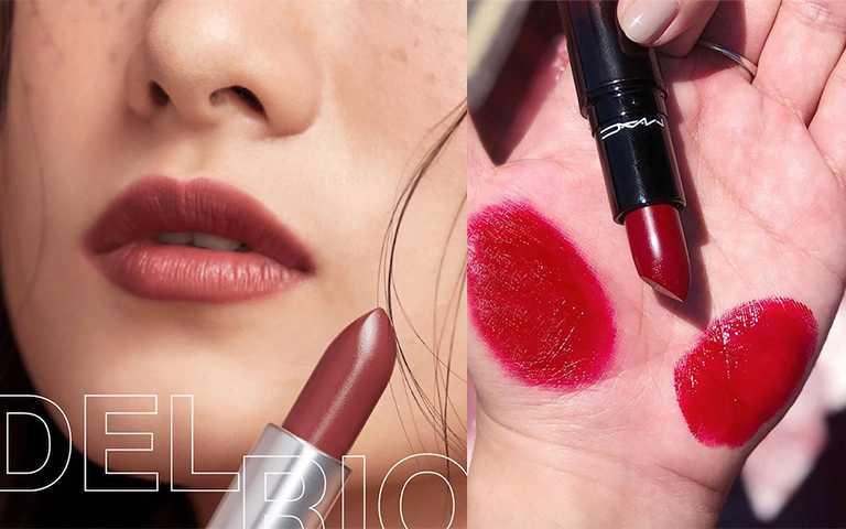 M.A.C 絨光豐盈唇膏#DEL-RIO 煙燻莓紅/NT770(圖/maccosmeticstaiwan_ IG)