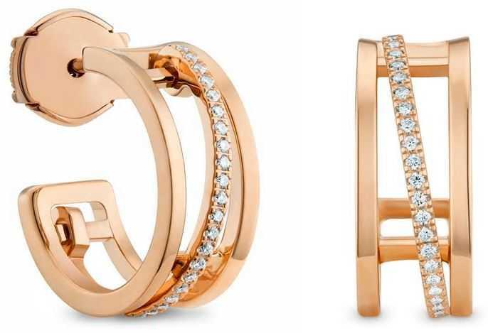 DE BEERS「Horizon系列」18K玫瑰金鑽石耳環╱121,000元。(圖╱DE BEERS提供)