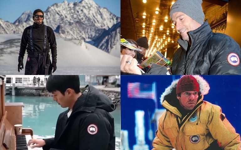 貝克漢、休傑克曼、玄彬、艾瑪史東等名人都是Canada Goose的品牌愛好者。(圖/Canada Goose)