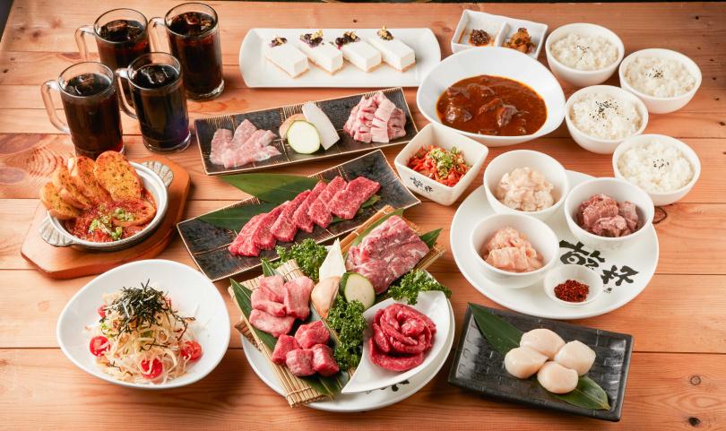 「中秋好肉派對套餐」從前菜、主菜、特製和牛咖哩、飲品與甜點一應俱全。(圖片提供/乾杯集團)