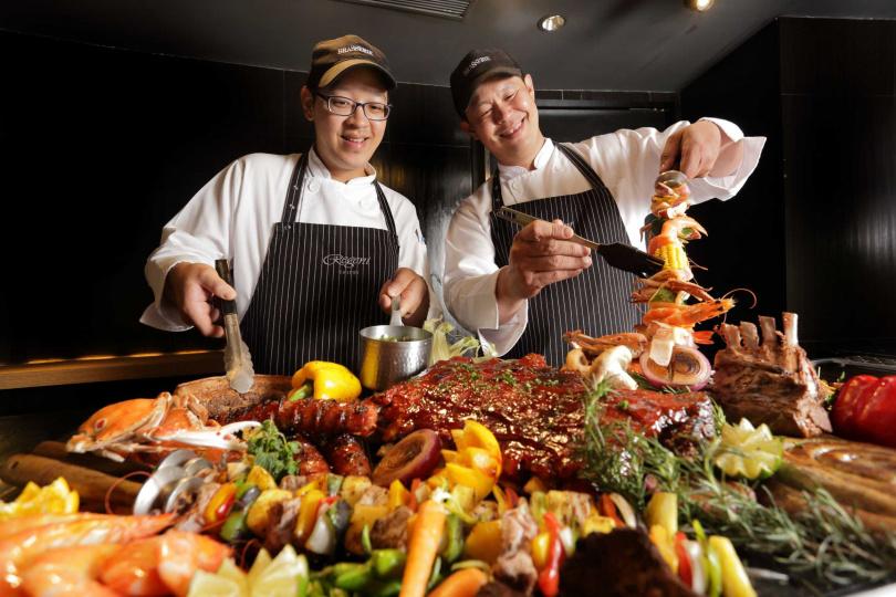 匯集豐美烤物推出的全球「夯」肉宴,讓客人開心大口吃肉肉。(圖片提供/台北晶華酒店)
