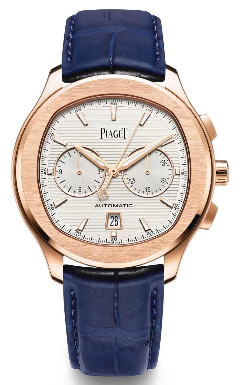 PIAGET「Polo」系列18K玫瑰金計時碼錶╱1,000,000元。(圖╱PIAGET提供)