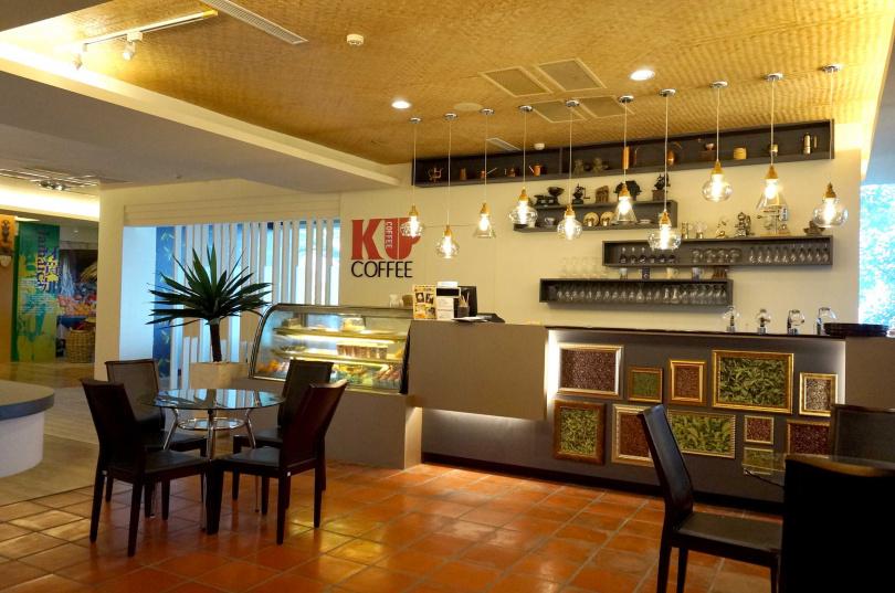 劍湖山裡面的咖啡茶藝博覽館--「酷咖啡」,可品嚐到台灣古坑咖啡。