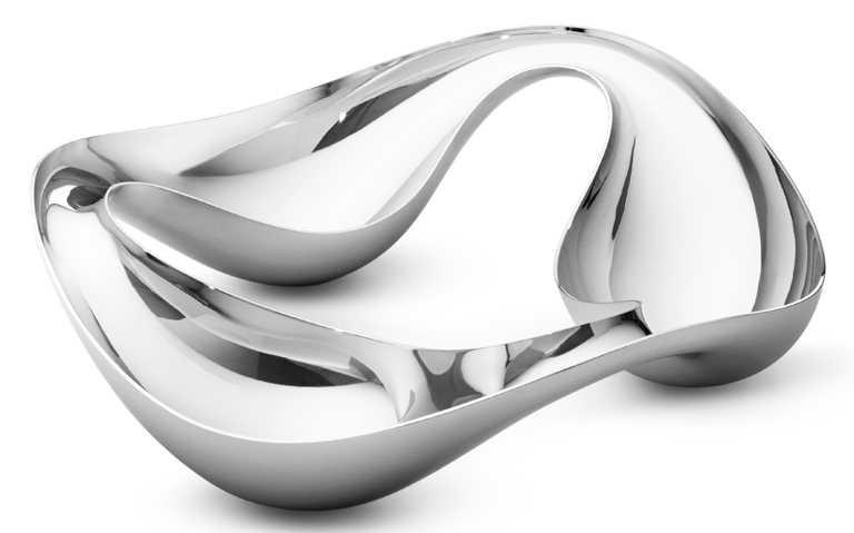 GEORG JENSEN 2021春夏全新「COBRA」系列,鏡面拋光不鏽鋼點心碗╱4,500元。(圖╱GEORG JENSEN提供)