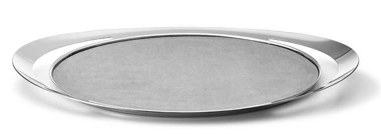 GEORG JENSEN 2021春夏全新「COBRA」系列,鏡面拋光不鏽鋼置物托盤╱5,900元。(圖╱GEORG JENSEN提供)