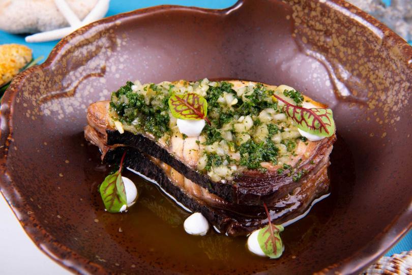 希臘香芹烤魚。(圖/力麗威斯汀度假酒店提供)