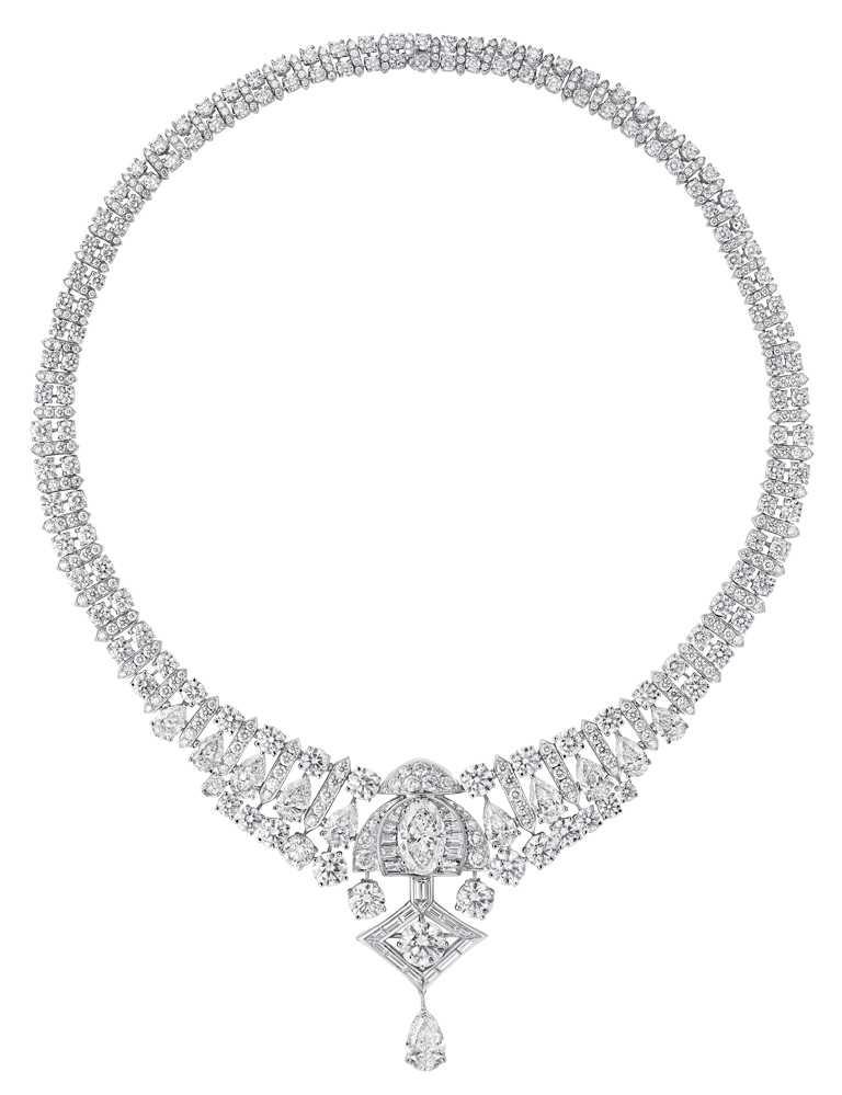 GRAFF「Tribal」系列高級珠寶,Night Moon白金鑽石項鍊╱價格店洽。(圖╱GRAFF提供)