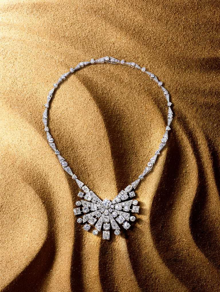 GRAFF「Tribal」系列高級珠寶,New Dawn白金鑽石項鍊╱價格店洽。(圖╱GRAFF提供)