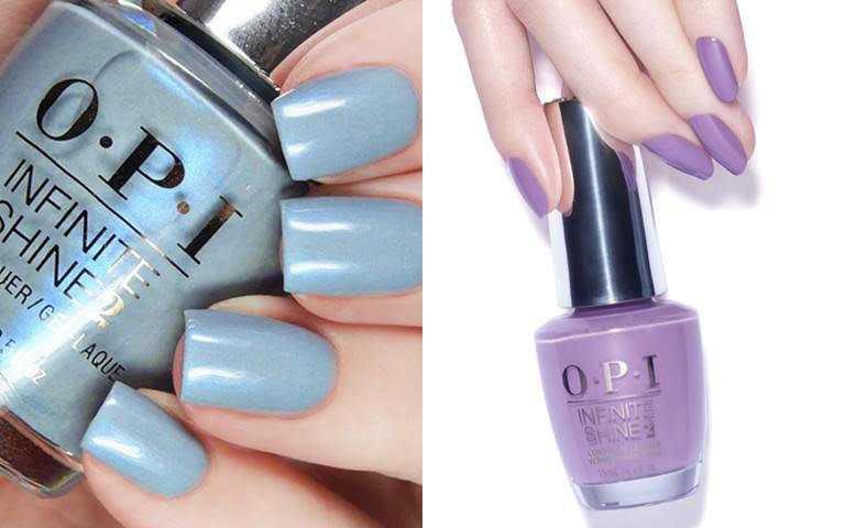 色號#ISLB29紫丁香愛你跟#ISLI60藍霧噴泉,是今年的大勢流行色。(圖/品牌提供)