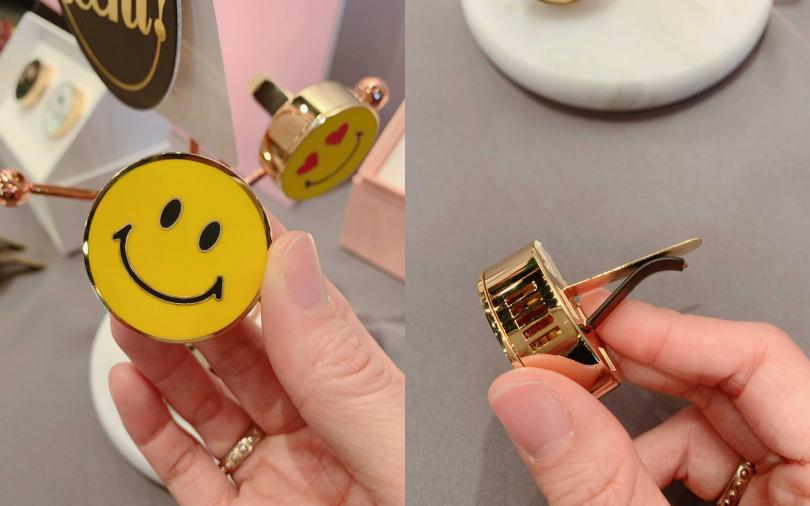 Oh, Scent!精緻車內香氛微笑表情款/1,490元  看到這樣的笑臉,感覺好心情都找回來了。(圖/吳雅鈴攝影)
