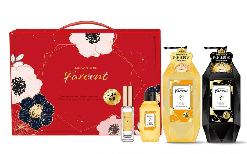 Farcent香水胺基酸沐浴露禮盒組/399元  原價要999元ㄟ!打了將近4折還能一次獲得4種品項,實在太划算了。(圖/品牌提供)
