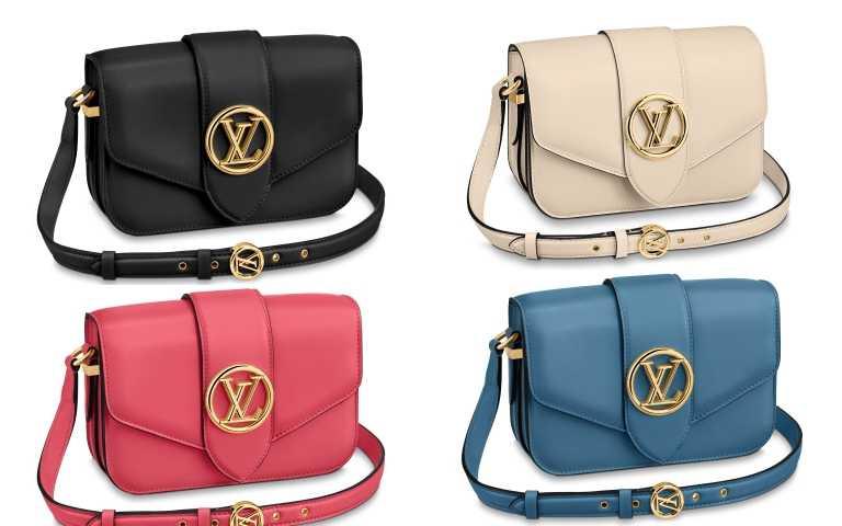 LOUIS VUITTON的Pont 9手袋其他四色選擇!除了簡約黑白色外,也有春夏的繽紛粉紅、爆粉藍款。(圖/品牌提供)
