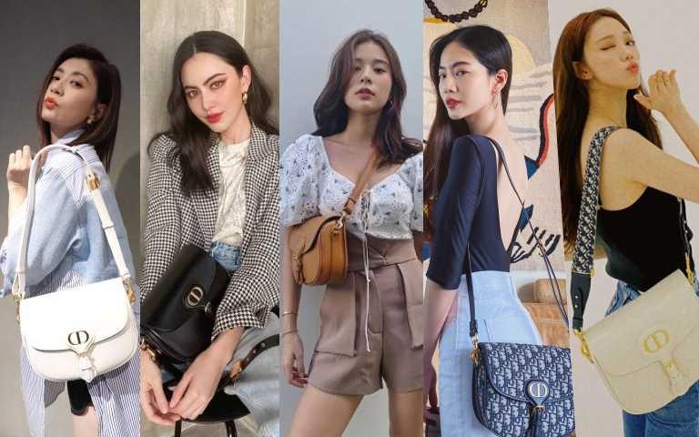 藝人們包括賈靜雯、Davika Hoorne、泰國女星Supassara Thanachat、曾之喬、李聖經都愛Dior Bobby 肩背包!有三種尺寸和四種顏色選擇:黑色、拿鐵白、駝色和 Oblique丹寧藍斜紋緹花帆布皮革滾邊款。(圖/品牌提供)