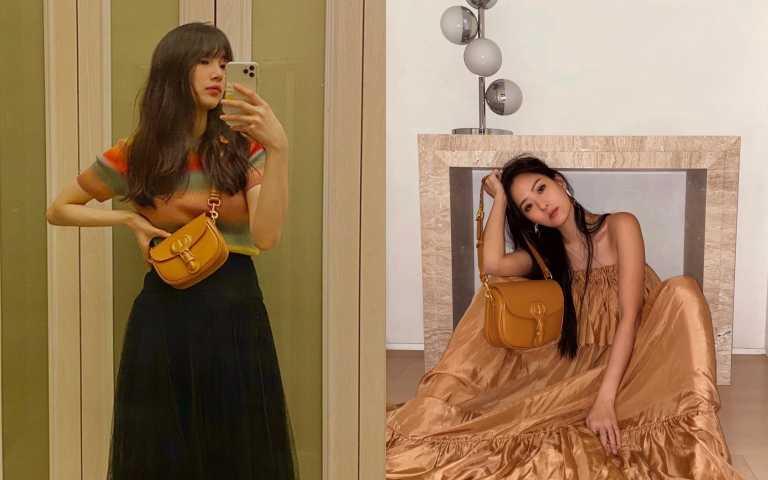 秀智和孫芸芸都揹上今年最夯色芥末黃的Dior Bobby 肩背包(圖/品牌提供、ig)